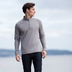 Plain wicking finish ¼ zip top with Henbury 210 GSM