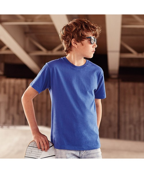 Plain Kids slim fit t-shirt Russell Colours 140gsm, Light Oxford 145gsm