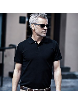 Plain Harvard stretch deluxe polo shirt Nimbus`-Cph- 210 GSM
