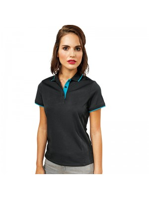Plain Women's contrast Coolchecker® polo Premier 155 GSM
