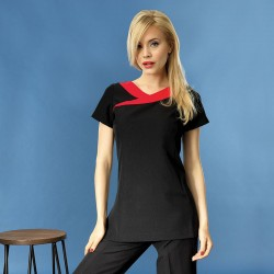 Plain beauty and spa tunic contrast neckline Ivy Premier 185 GSM