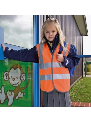 Plain high-viz vest EN1150 Class 2 approved Junior Safeguard 120 GSM