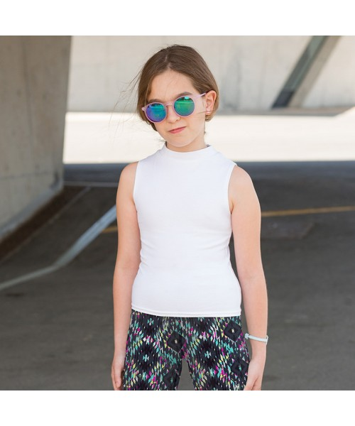 Plain Kids high neck crop vest SF 220 GSM