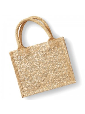 Shimmer jute mini gift bag Westford Mill 149 GSM