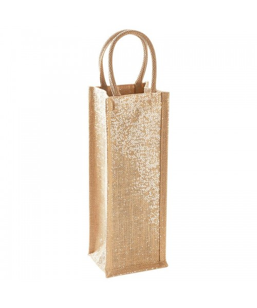 Shimmer Jute Bottle Bag Westford Mill 122 GSM