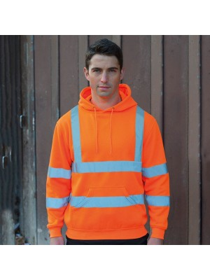 Plain High-visibility hoodie RTY 240 GSM