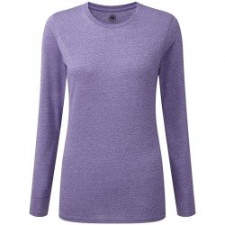 Plain T-shirt Women's long sleeve HD russell  White 155, Colours 160 GSM