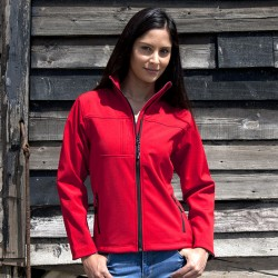 Plain Soft Shell Jacket Ladies Classic Result