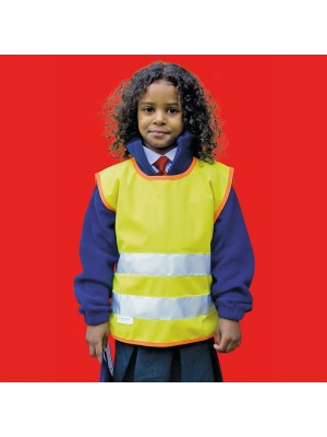 Plain Junior hi-viz tabard EN1150 Safeguard 270 GSM