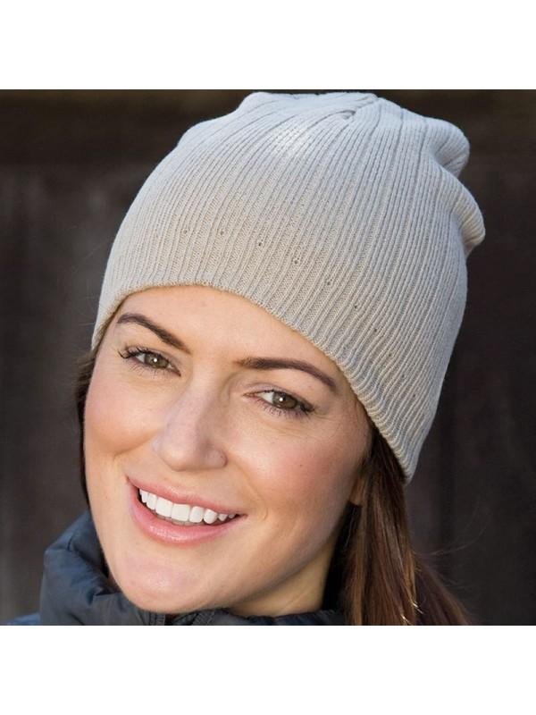 4c4f6cc94e7 Plain Double-knit cotton beanie hat Result · Zoom