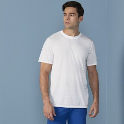 Gildan 169gsm White 100% Polyester Short Sleeve T-Shirt