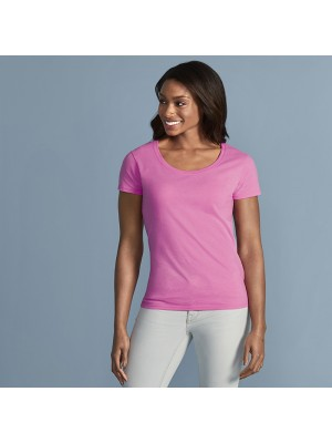 Plain Softstyle® women's deep scoop t-shirt Gildan 153 GSM