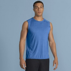 Plain Gildan performance sleeveless t-shirt Gildan White 145gsm, Colours 153gsm