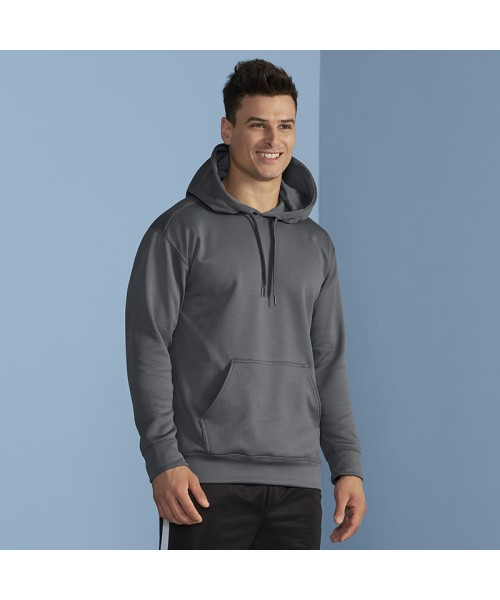 Plain Performance adult tech hooded sweatshirt Gildan 244 GSM