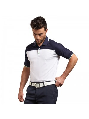 Plain g.Frederick collar block polo shirt Glenmuir 160 GSM