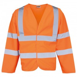 Plain High-visibility motorway coat RTY 130 GSM