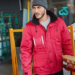 Plain sleeves Workwear parka with detachable Kariban 610 GSM
