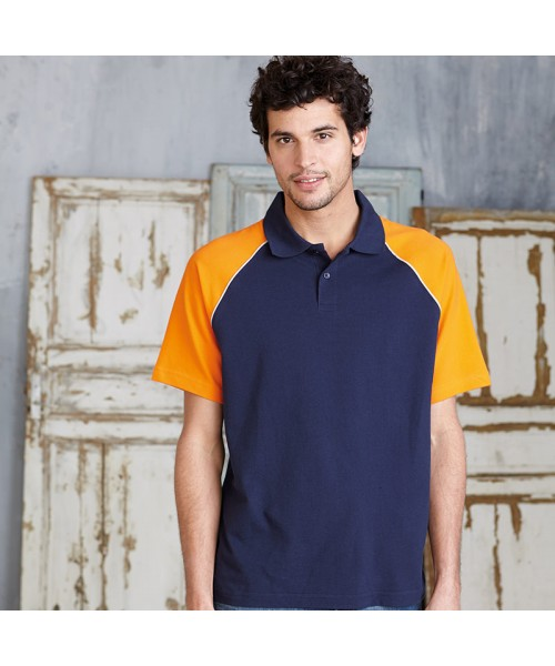 Plain Polo base ball contrast polo shirt Kariban 200 GSM