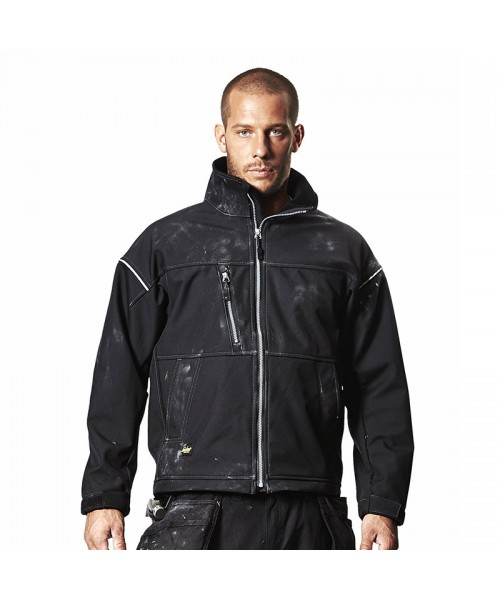 Plain Profiling soft shell jacket Snickers Workwear 265 GSM