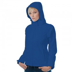 Plain Hooded softshell /women B&C