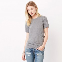 Plain Unisex triblend crew neck t-shirt Bella+Canvas 130 GSM