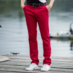 Plain Trousers Stretch Chino Front Row 220 GSM