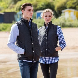 Plain Gilet Ladies Diamond Quilted Front Row