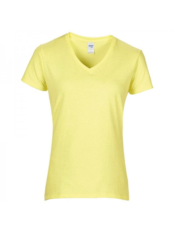 Plain t shirt women 39 s premium cotton v neck gildan 180 gsm for Premium plain t shirts