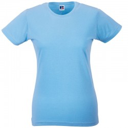 Plain Women's slim T Russell White 140,Colours145 GSM