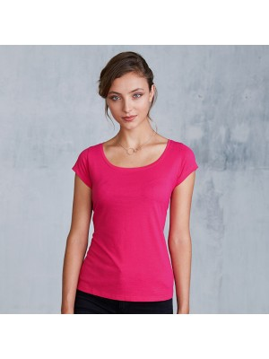 Plain Women's boa neck t-shirt Kariban 180 GSM