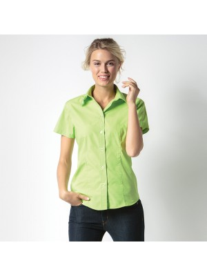 Plain Women's workforce blouse short sleeved Kustom Kit 115 GSM