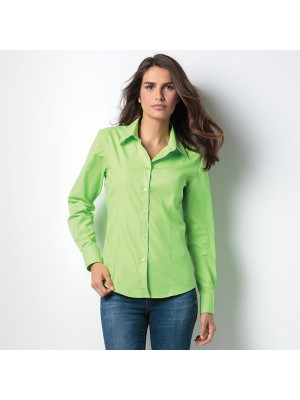 Plain Women's workforce blouse long sleeve Kustom Kit 115 GSM