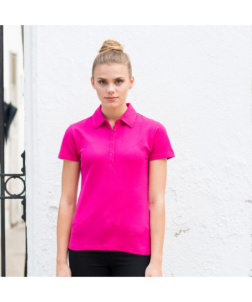 Plain Women's short sleeve stretch polo Sf 200 GSM