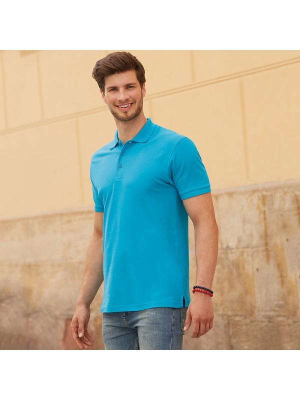 Plain premium polo fruit of the loom white 170 colours 180gsm for Premium plain t shirts