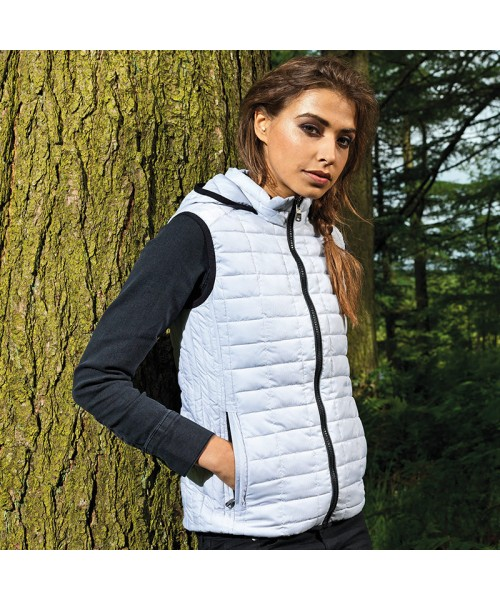 Plain Women's honeycomb hooded gilet 2786 Outer: 36gsm, Lining: 52gsm, Wadding: 250 GSM