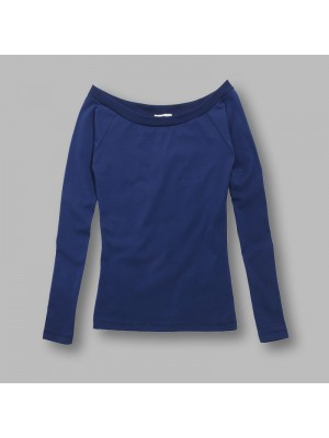Plain Jazz - ladies bardot neck long sleeve top Brave Soul 190 GSM