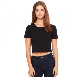 Plain Women's polycotton crop top Bella+Canvas 122 GSM