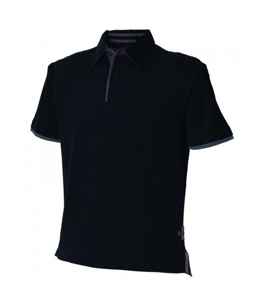 Plain Super soft touch jersey polo shirt Front Row &Co