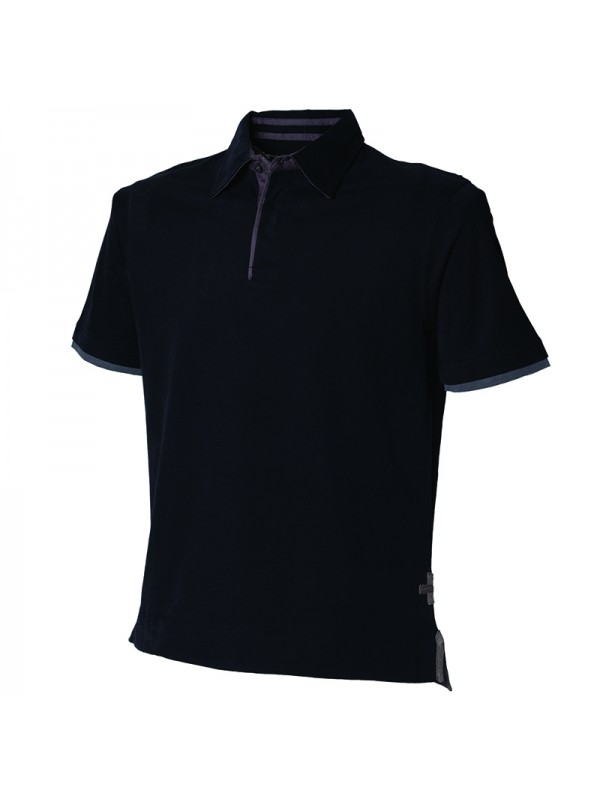 plain super soft touch jersey polo shirt front row co