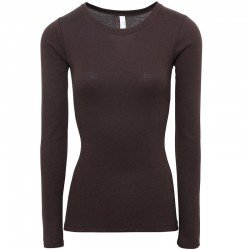 Plain Sheer Rib Long Sleeve Crew Neck Bella +Canvas 135 GSM