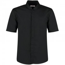 Plain Mandarin Collar Shirt Short Sleeve Kustom Kit 120 GSM