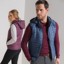 Plain Honeycomb hooded gilet 2786 Outer: 36gsm, Lining: 52gsm, Wadding: 250 GSM