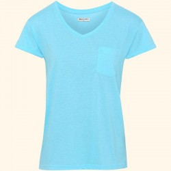 Plain Katie - ladies v-neck t-shirt with turnback Brave Soul 130 GSM