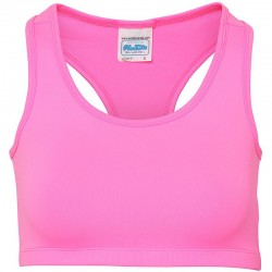 Plain sports crop top Girlie cool AWDis 210 GSM
