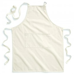 Plain Fairtrade cotton adult craft apron Westford Mill 250 GSM