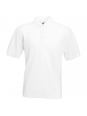 Plain Polo Shirt Pique Fruit of the Loom 170 gsm Cols 180 GSM