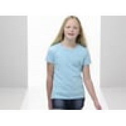 Plain T-Shirt Girls Value Fruit of the loom White 160gsm, Colours 165 GSM