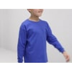 Plain valueweight tee Kids long sleeve FRUIT of the LOOM White 160gsm,Colours 165gsm