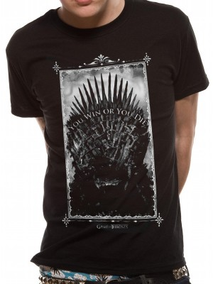GAME OF THRONES T SHIRT Official Merchandise GAME OF THRONES - WIN OR DIE (UNISEX)   Black t-shirt