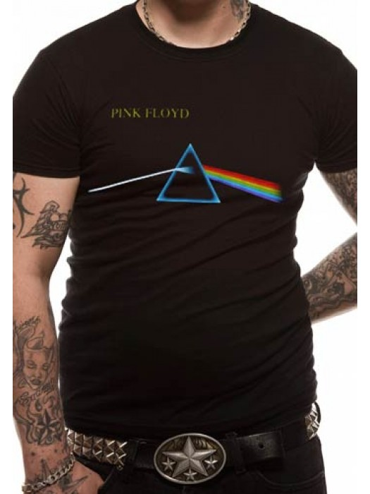 PINK FLOYD T SHIRT Official Merchandise PINK FLOYD - DARK SIDE OF THE MOON (UNISEX) Black t-shirt